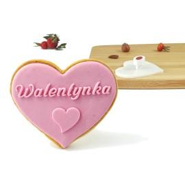 Stempel serce 70 x 60 mm - Walentynka Serduszko