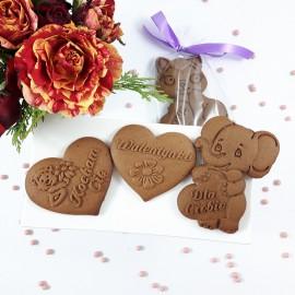 Walentynki - Komplet 3 stemple i 2 foremki