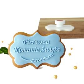 Stempel - Pierwsza Komunia Święta kłos- etykieta