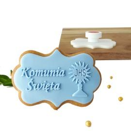 Stempel - Komunia Święta kielich - etykieta