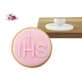 Stempel okrągły IHS - krzyż