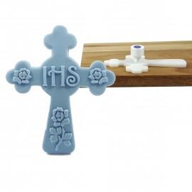 Stempel + foremka krzyż IHS - róże