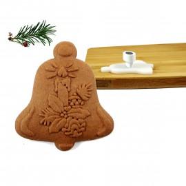Stempel do ciastek dzwonek - stroik świeczka