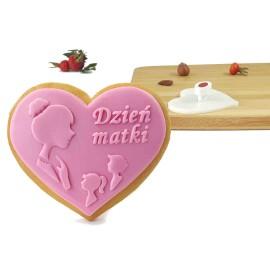Pieczątka do ciastek serce - na Dzień Matki