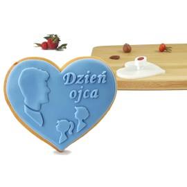 Pieczątka do ciastek serce - Dzień Ojca