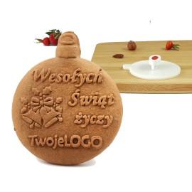 Stempel świąteczny z podpisem - spersonalizowany stempel do ciastek
