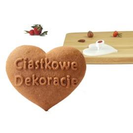 Serce z własnym napisem - personalizowana pieczątka do ciastek