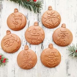 stempel dzwonek stroik świąteczny