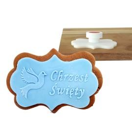 Stempel - Chrzest Święty gołąb- etykieta